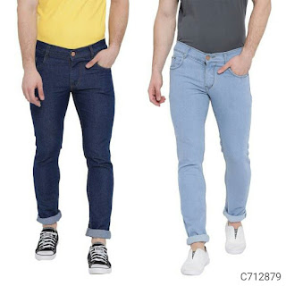 Denim Solid Slim Fit Jeans Combo Pack of 2