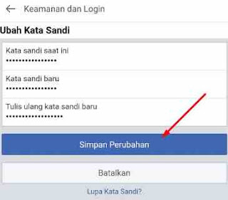 Cara Mengganti Sandi FB