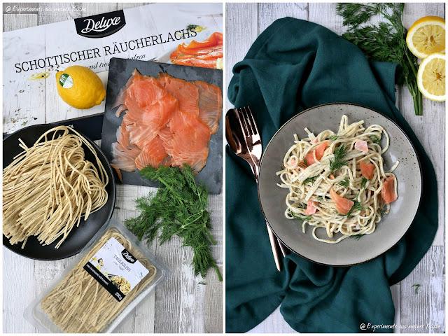 Schnelles 3-Gänge-Deluxe-Menü   Trüffelpasta in cremiger Lachssoße   Rezept   Kochen   Essen   Weihnachten