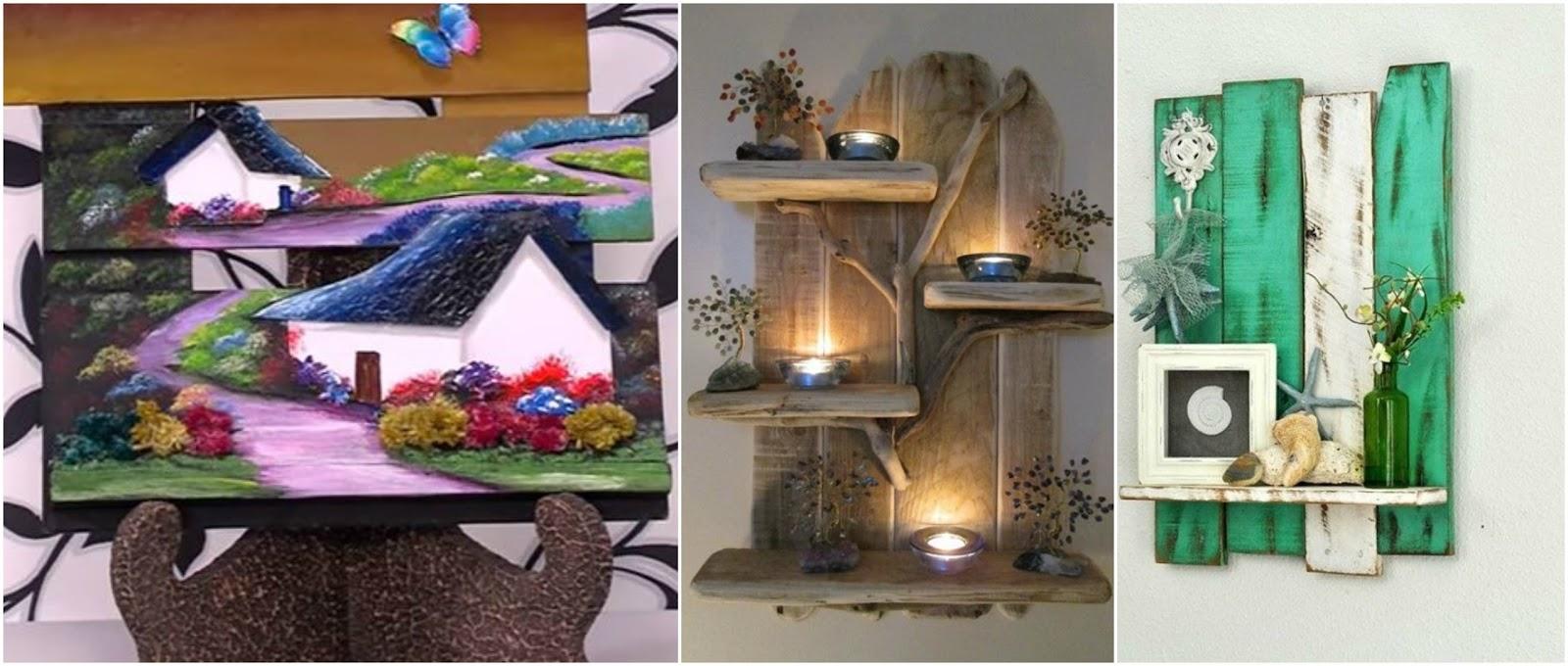 7 adornos nicos para la pared con tablas de madera for Adornos de madera para pared