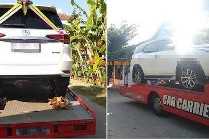 """""""Saja je nak viral ni...""""- Lelaki Bagi Hantaran Toyota Fortuner Dekat Isteri, Rupa-Rupanya...."""