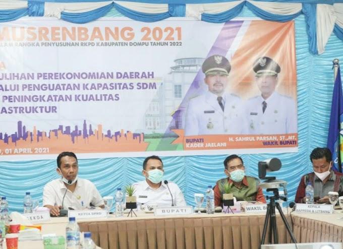 Bappeda Dompu dan Litbang Dompu, Gelar Meeting via Online dengan Pemkab Dompu dan Litbang NTB