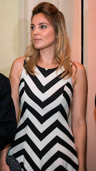 Marcela Temer vestido geométrico primeira dama foto