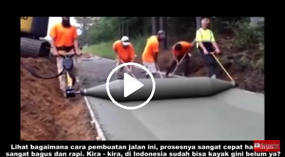 Wow Keren!! Lihat Bagaimana Proses Pembuatan Jalan di Luar Negeri Ini. Indonesia, Udah Bisa Belum Ya?