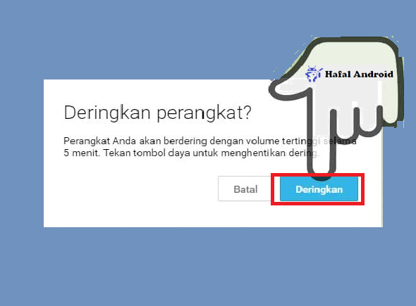 Menderingkan HP dengan Android Device Manager
