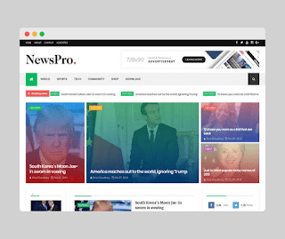 News pro blogger template Free Download |
