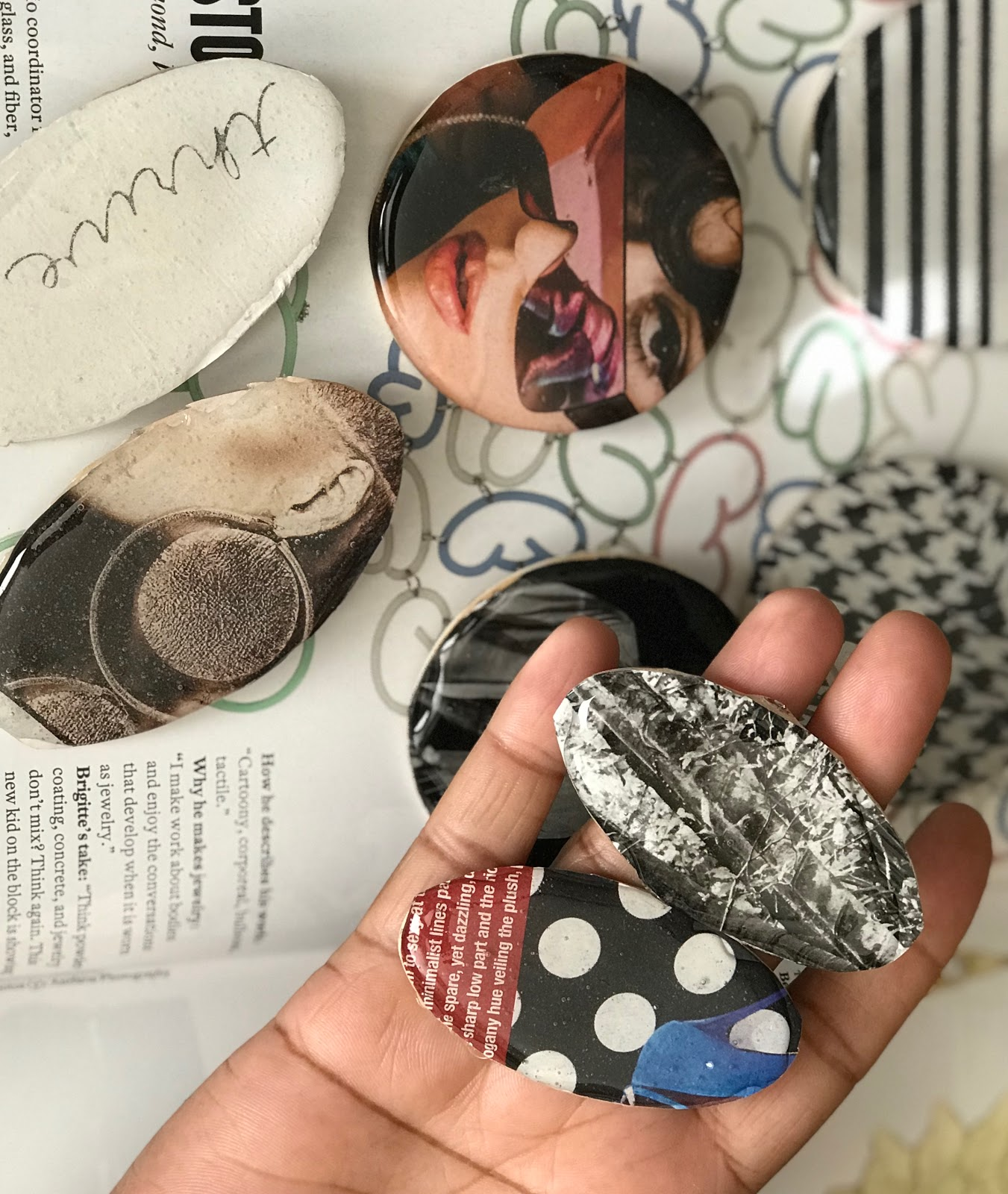 Put A Ear On It: Making My Own Recycled Magazine Ear-RINGS