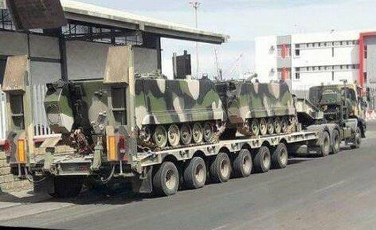 القوات المسلحة الملكية تتسلم مدرعات امريكية..