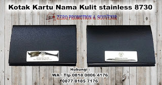 Souvenir Promosi Tempat Kartu Nama Kulit, Leather Card Case, Name Card Holder, Dompet Kartu, Business Card Holder, Kotak Kartu Nama Magnetic