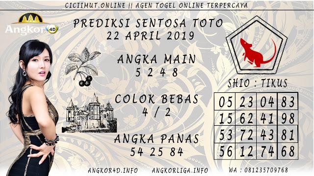 Prediksi Angka Jitu SENTOSA TOTO 22 APRIL 2019