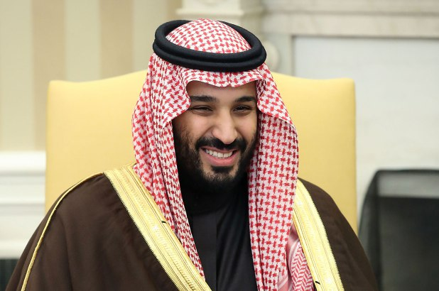 The crown prince attends a dinner in Hollywood hosted by producer Brian Grazer where he meets Jeff Bezos