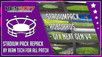 PES 2017 Stadiumpack + Adboard + GFX Repack by Rean Tech