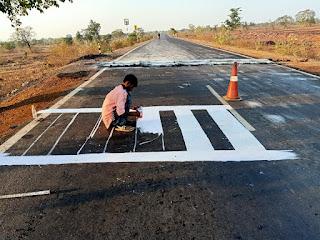 बगदरी घाटी में सड़क दुर्घटनाओं को रोकने हेतु बनवाये गये 4 स्थानों पर स्पीड ब्रेकर