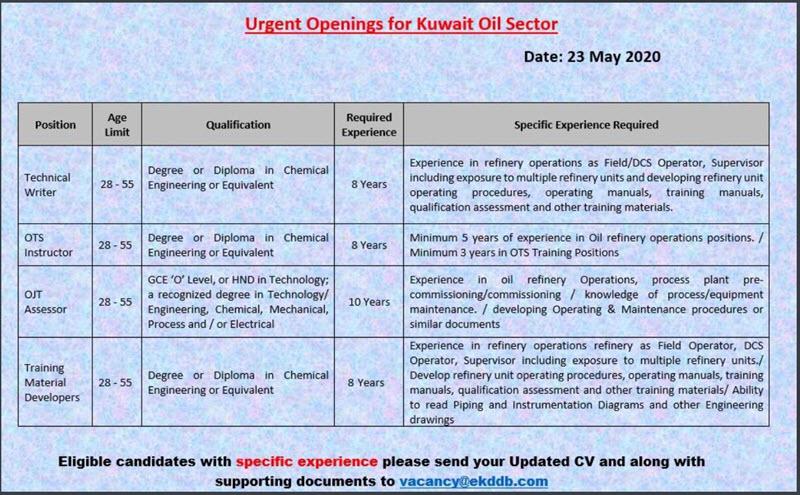 وظائف شركة KDDB للتجارة العامة والمقاولات بالقطاع النفطي في الكويت