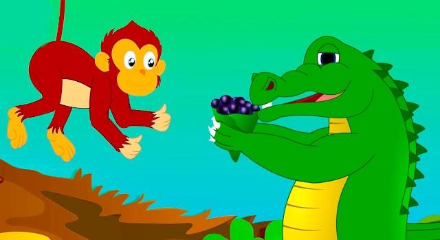 قصة القرد و التمساح   قصص اطفال   حكايات عربية
