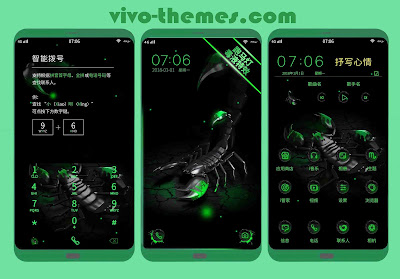 Green Scorpion Theme For Android Vivo Phones