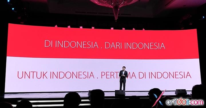 "Indonesia banget "" DI INDONESIA . DARI INDONESIA . UNTUK INDONESIA . PERTAMA DI INDONESIA """