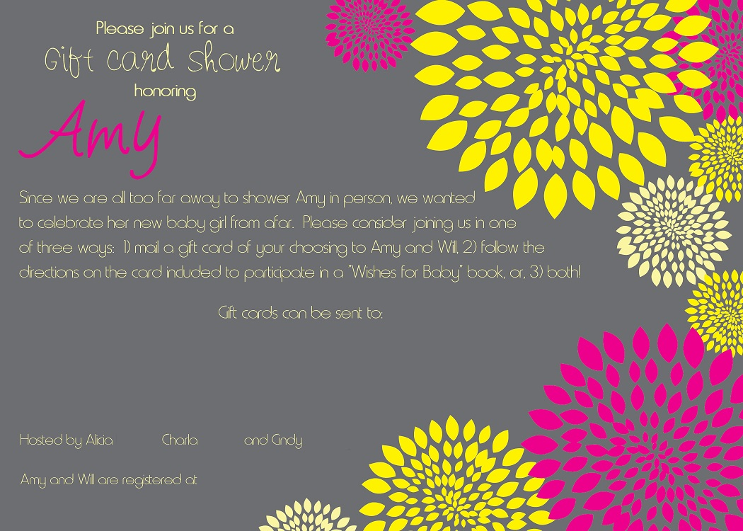 Gift Card Wedding Shower Invitation Wording: Tiny Tidbits: Baby Shower By Mail