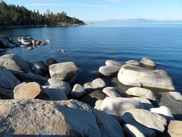 Beautiful Rocky Shore at Lake Tahoe
