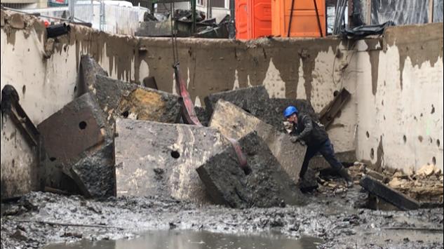 Gezaagde betonblokken - Wandzagen - Hassotel Hasselt - Diabeton