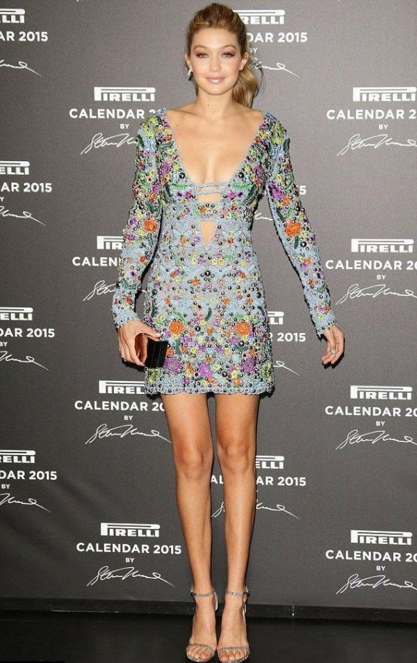 Gigi Hadid Spikes A Natural Anatomy In A Short Dress