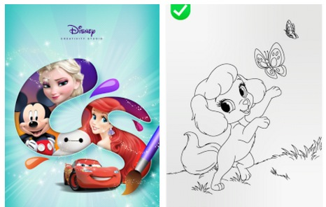 Juegos para pintar Princesas de Disney gratis (Celular y Tablet)