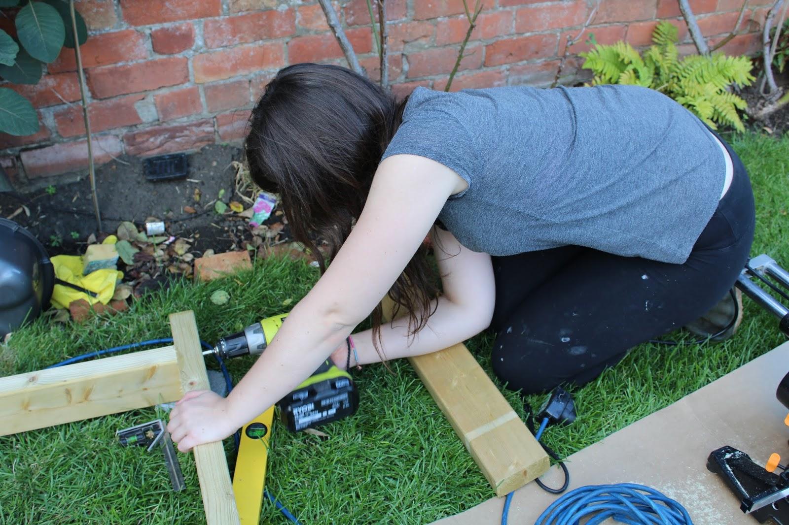 Girl Using Ryobi Drill