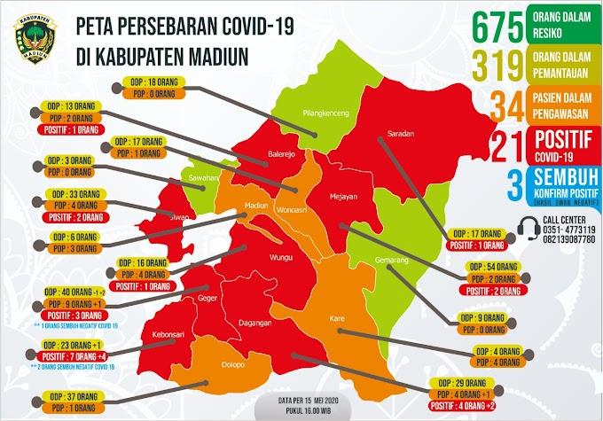 Jumlah Positif Covid-19 Kabupaten Madiun Total 21 Orang
