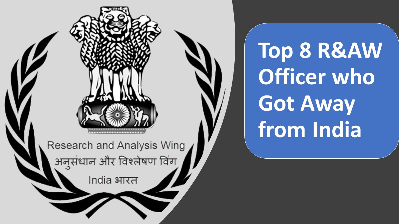 Top 8 R&AW Officer who Got Away from India