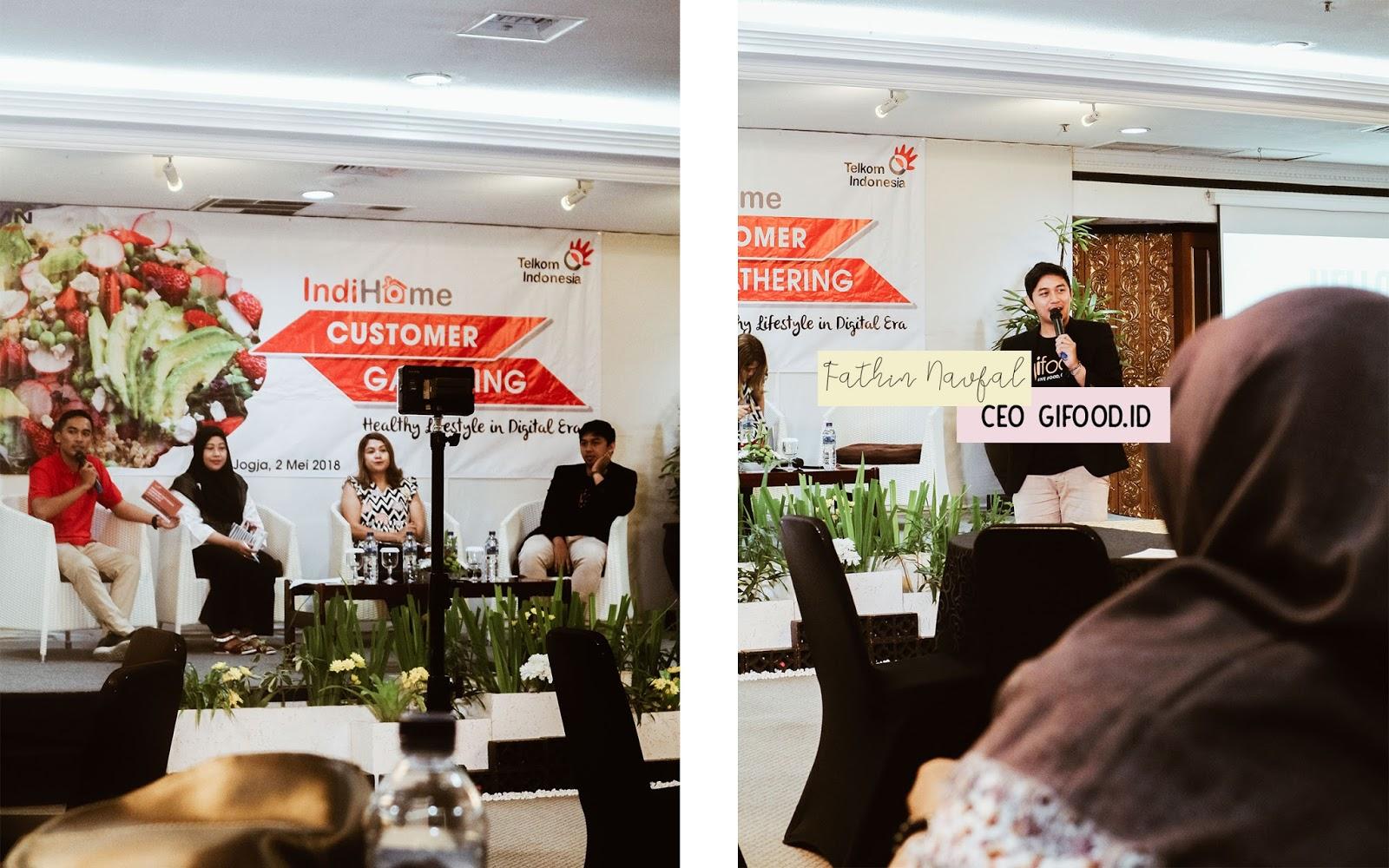 Para Pembicara: Ibu Sri Hartini dari UGM, Mbak Wiwin dari Optimum Healthy Cafe dan Fathin Naufal dari Gifood.ID