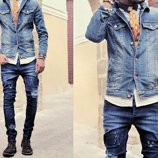 How to wear men's jeans Style
