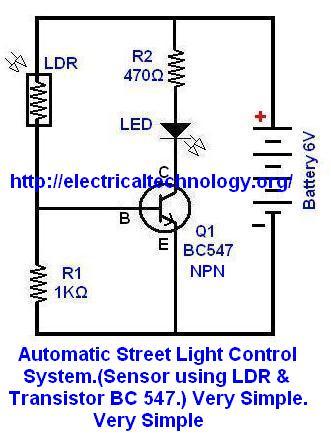Automatic Street Light Control System Sensor Using Ldr