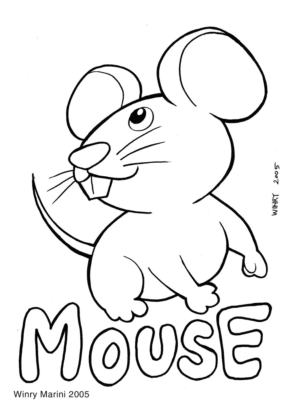 Art And Lore Mouse Coloring Page Mewarnai Tikus