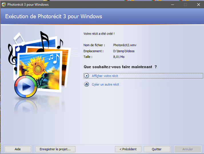 photorecit 3 pour windows vista
