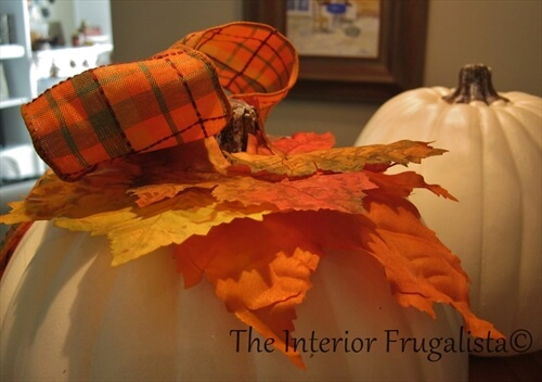Faux Stacked Pumpkins Fall Maple Leaves