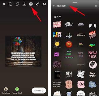 Cara Membuat Tulisan New Post di Instagram Story Android