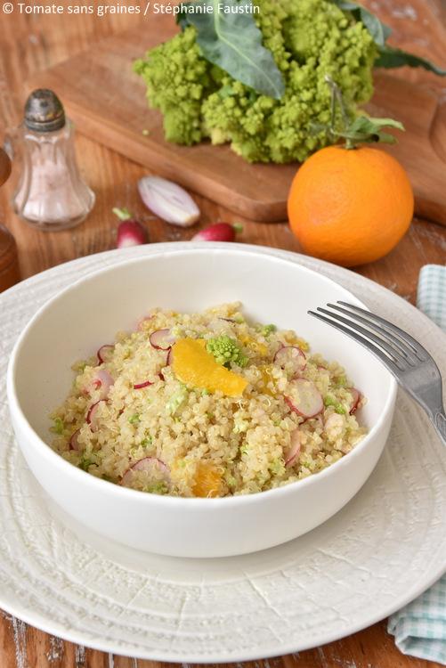Salade de quinoa, orange et radis à l'Omnicuiseur Vitalité