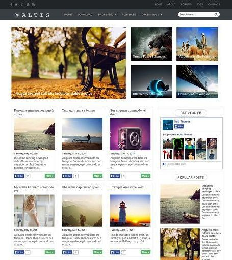 Template Blog Foto SEO, Keren, dan Responsive