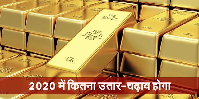 2020 में गोल्ड के उतार-चढ़ाव का पूर्वानुमान | GOLD PRICE FORECAST FOR 2020