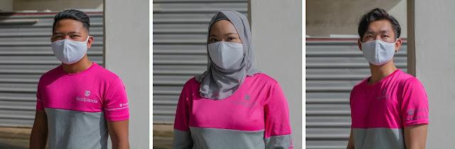 """UNIQLO Hadiahkan 13,000 Keping """"AIRism Mask"""" Kepada Rider Foodpanda"""