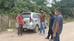 Polres Bungo Olah TKP Pasca Kasus  Perusakan Mobil Wartwan Inews