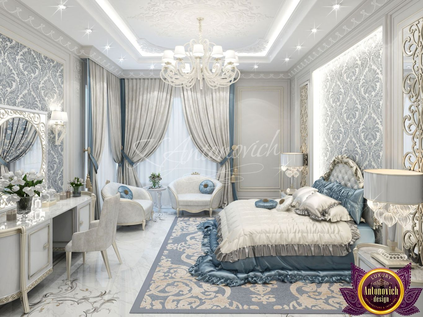 Luxury antonovich design uae for Bed dizain image