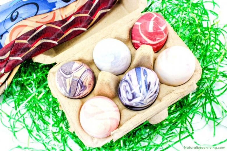 Easter egg decorating ideas - silk tie easter eggs