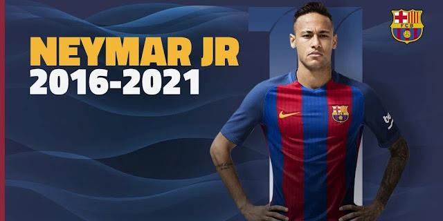 OFICIAL: Neymar renova com o Barcelona por mais 5 temporadas