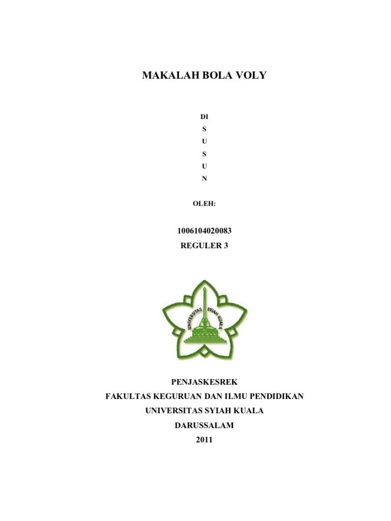 makalah tentang bola voli - wood scribd indo