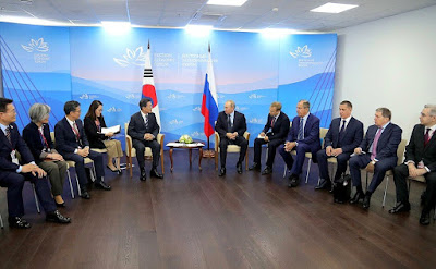 Russian-South Korean talks in Vladivostok.