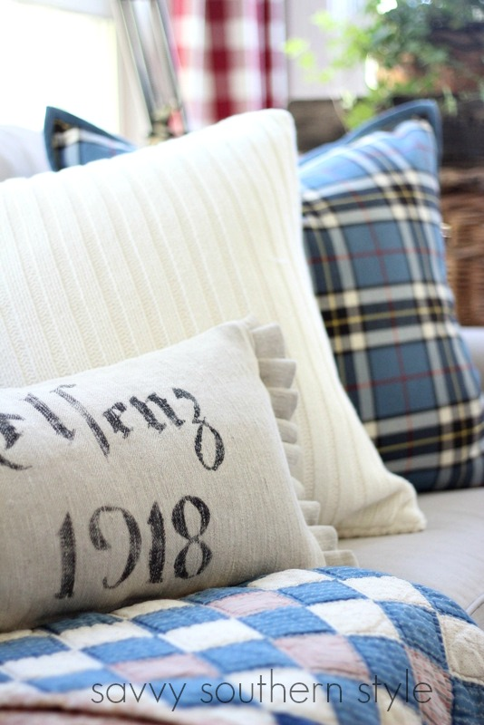 Savvy Southern Style : Mad For Plaid and More in the Sunroom