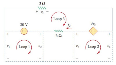 supernode analysis electric circuit