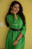 Geethanjali in Green Dress at Mixture Potlam Movie Pressmeet March 2017 012.JPG