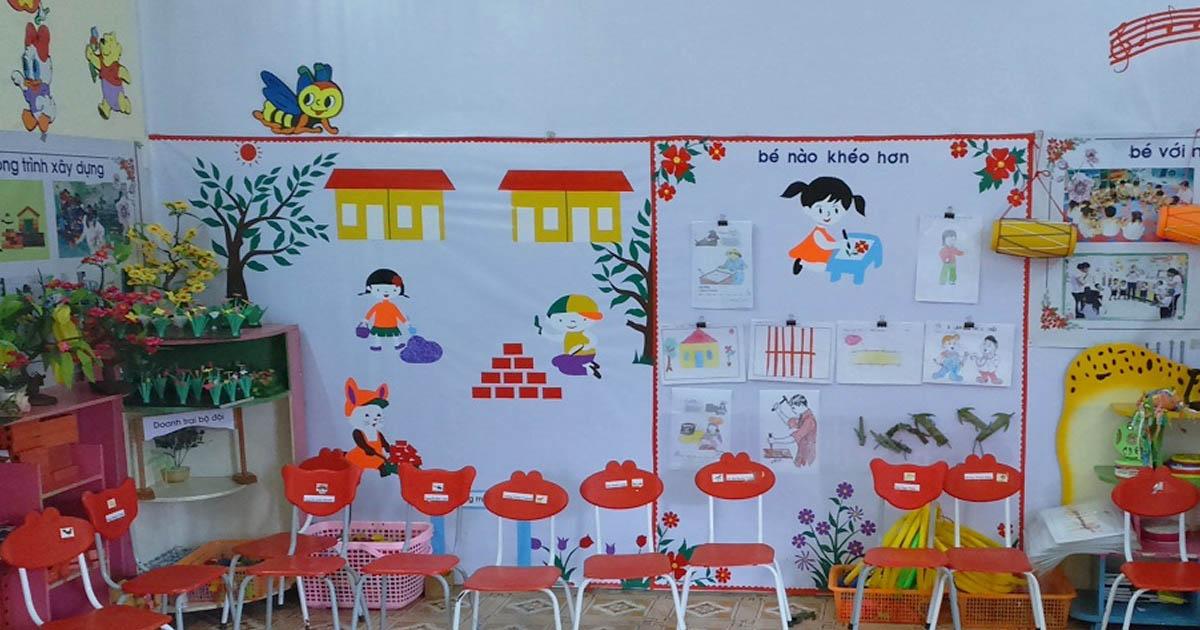 Hướng dẫn cách trang trí lớp học mầm non bé đến trường thêm vui